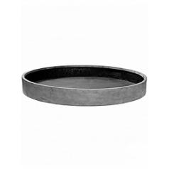 Кашпо Pottery Pots Fiberstone max low XXXL размер grey, серого цвета  Диаметр — 120 см