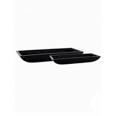 Кашпо Pottery Pots Fiberstone mini glossy black, чёрного цвета pandora (2) Длина — 63 см