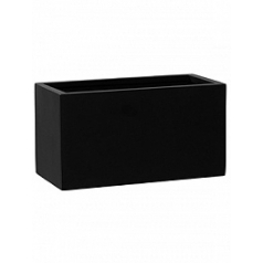 Кашпо Pottery Pots Fiberstone mini matt black, чёрного цвета jort XS размер Длина — 30 см