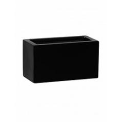 Кашпо Pottery Pots Fiberstone mini matt black, чёрного цвета jort xxs Длина — 20 см