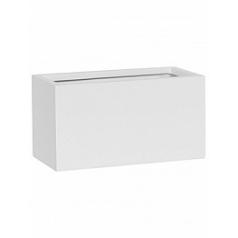 Кашпо Pottery Pots Fiberstone mini matt white, белого цвета jort XS размер Длина — 30 см