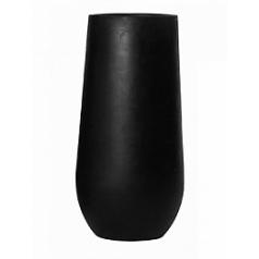 Кашпо Pottery Pots Fiberstone nax L размер black, чёрного цвета  Диаметр — 50 см