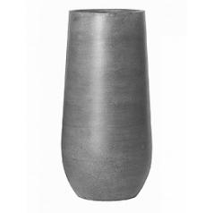 Кашпо Pottery Pots Fiberstone nax L размер grey, серого цвета  Диаметр — 50 см