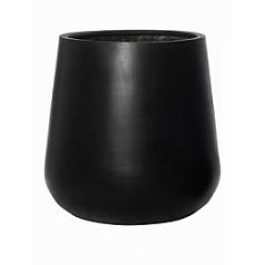 Кашпо Pottery Pots Fiberstone pax black, чёрного цвета XL размер  Диаметр — 66 см