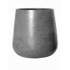 Кашпо Pottery Pots Fiberstone pax grey, серого цвета M размер  Диаметр — 44 см