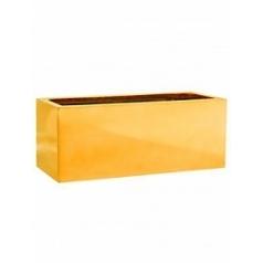 Кашпо Pottery Pots Fiberstone platinum glossy gold, под цвет золота balcony S размер Длина — 50 см