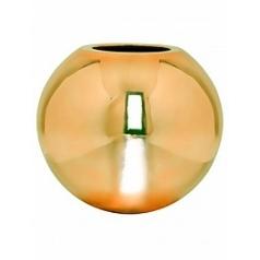 Кашпо Pottery Pots Fiberstone platinum glossy gold, под цвет золота bet  Диаметр — 50 см