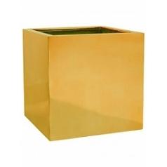 Кашпо Pottery Pots Fiberstone platinum glossy gold, под цвет золота block L размер Длина — 50 см