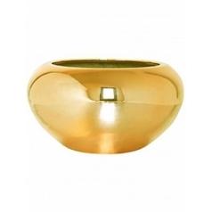 Кашпо Pottery Pots Fiberstone platinum glossy gold, под цвет золота cora S размер  Диаметр — 47 см