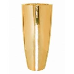 Кашпо Pottery Pots Fiberstone platinum glossy gold, под цвет золота dax L размер  Диаметр — 37 см