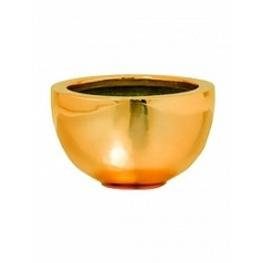 Кашпо Pottery Pots Fiberstone platinum glossy gold, под цвет золота peter S размер  Диаметр — 20 см