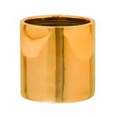 Кашпо Pottery Pots Fiberstone platinum glossy gold, под цвет золота puk S размер  Диаметр — 15 см