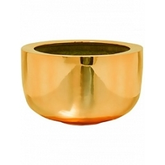 Кашпо Pottery Pots Fiberstone platinum glossy gold, под цвет золота sunny  Диаметр — 45 см