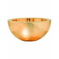 Кашпо Pottery Pots Fiberstone platinum glossy gold, под цвет золота vic bowl L размер  Диаметр — 60 см