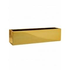 Кашпо Pottery Pots Fiberstone platinum gold, под цвет золота balcony XL размер Длина — 80 см