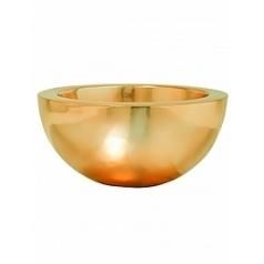Кашпо Pottery Pots Fiberstone platinum gold, под цвет золота vic bowl S размер  Диаметр — 385 см