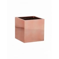 Кашпо Pottery Pots Fiberstone platinum rose fleur S размер Длина — 15 см