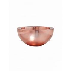 Кашпо Pottery Pots Fiberstone platinum rose vic bowl S размер  Диаметр — 385 см