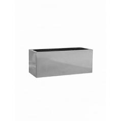 Кашпо Pottery Pots Fiberstone platinum под цвет серебра balcony S размер Длина — 50 см