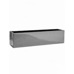 Кашпо Pottery Pots Fiberstone platinum под цвет серебра balcony XL размер Длина — 80 см