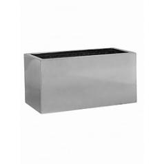 Кашпо Pottery Pots Fiberstone platinum под цвет серебра balcony XS размер Длина — 40 см