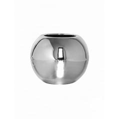 Кашпо Pottery Pots Fiberstone platinum под цвет серебра beth XS размер  Диаметр — 26 см