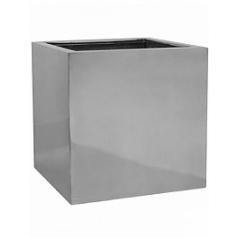 Кашпо Pottery Pots Fiberstone platinum под цвет серебра block L размер Длина — 50 см