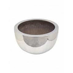 Кашпо Pottery Pots Fiberstone platinum под цвет серебра bowl L размер  Диаметр — 60 см