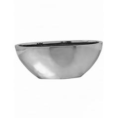 Кашпо Pottery Pots Fiberstone platinum под цвет серебра dorant S размер Длина — 43 см
