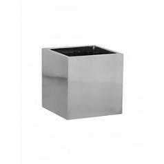 Кашпо Pottery Pots Fiberstone platinum под цвет серебра fleur S размер Длина — 15 см