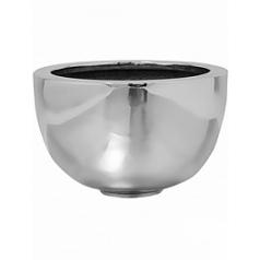 Кашпо Pottery Pots Fiberstone platinum под цвет серебра peter M размер  Диаметр — 30 см