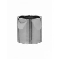 Кашпо Pottery Pots Fiberstone platinum под цвет серебра puk S размер  Диаметр — 15 см