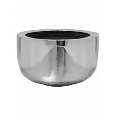 Кашпо Pottery Pots Fiberstone platinum под цвет серебра sunny L размер  Диаметр — 45 см
