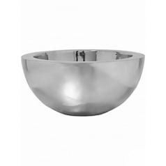 Кашпо Pottery Pots Fiberstone platinum под цвет серебра vic bowl L размер  Диаметр — 60 см
