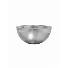 Кашпо Pottery Pots Fiberstone platinum под цвет серебра vic bowl S размер  Диаметр — 385 см
