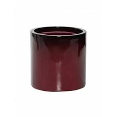 Кашпо Pottery Pots Fiberstone puk S размер gradient cherry red, красного цвета  Диаметр — 15 см