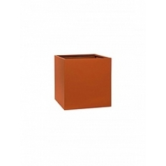 Кашпо Pottery Pots Fiberstone revival matt terracotta block S размер Длина — 30 см
