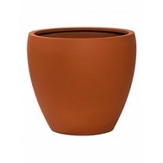 Кашпо Pottery Pots Fiberstone revival matt terracotta bun L размер  Диаметр — 50 см