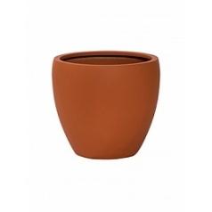 Кашпо Pottery Pots Fiberstone revival matt terracotta bun M размер  Диаметр — 41 см