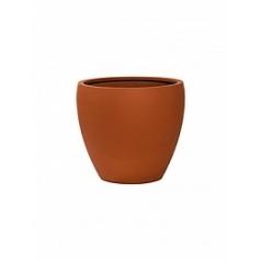 Кашпо Pottery Pots Fiberstone revival matt terracotta bun S размер  Диаметр — 33 см