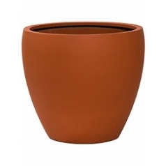 Кашпо Pottery Pots Fiberstone revival matt terracotta bun XL размер  Диаметр — 60 см