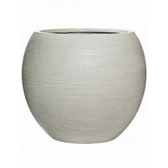 Кашпо Pottery Pots Fiberstone ridged cement abby L размер horizontal  Диаметр — 515 см