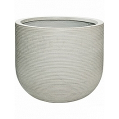 Кашпо Pottery Pots Fiberstone ridged cement dice M размер horizontal  Диаметр — 42 см