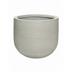 Кашпо Pottery Pots Fiberstone ridged cement dice S размер horizontal  Диаметр — 35 см