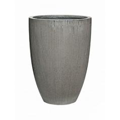 Кашпо Pottery Pots Fiberstone ridged dark grey, серого цвета ben L размер  Диаметр — 465 см