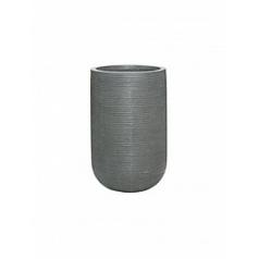 Кашпо Pottery Pots Fiberstone ridged dark grey, серого цвета cody S размер horizontal  Диаметр — 28 см