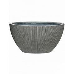 Кашпо Pottery Pots Fiberstone ridged dark grey, серого цвета drax XL размер Длина — 67 см