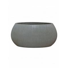 Кашпо Pottery Pots Fiberstone ridged dark grey, серого цвета ella M размер Длина — 72 см