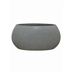Кашпо Pottery Pots Fiberstone ridged dark grey, серого цвета ella S размер Длина — 46 см