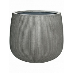 Кашпо Pottery Pots Fiberstone ridged dark grey, серого цвета pax L размер  Диаметр — 55 см